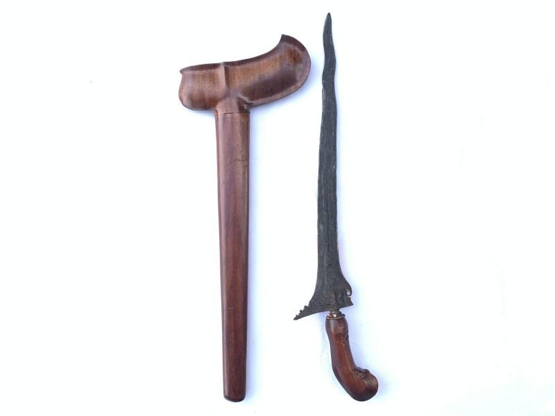 SANGGA BRJA KERIS, SANGGA BRJA 510mm KERIS 3 LUK Weapon Knife Sword Dagger Kris Blade Martial Art