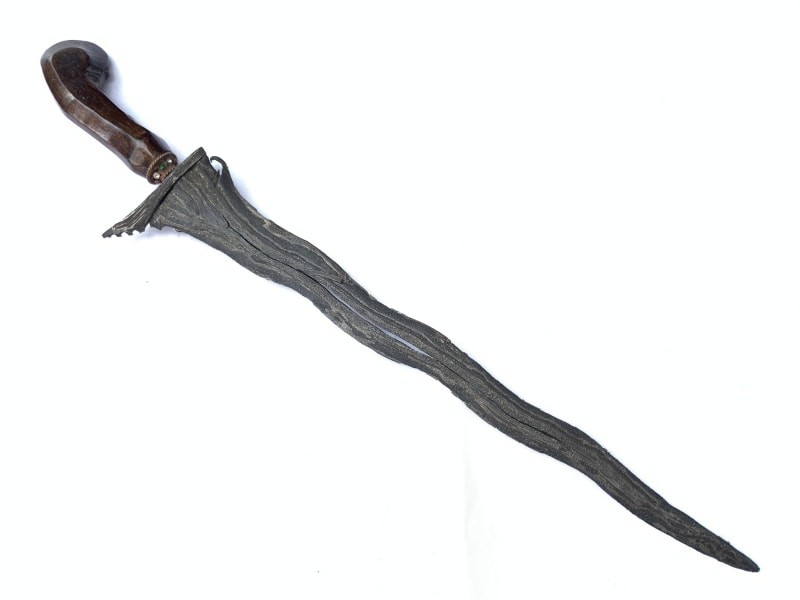 2.) KERIS PAMOR ADEQ 7 Luk (BLACK MAGIC PROTECTION) Knife Dagger Sword Kris Arms