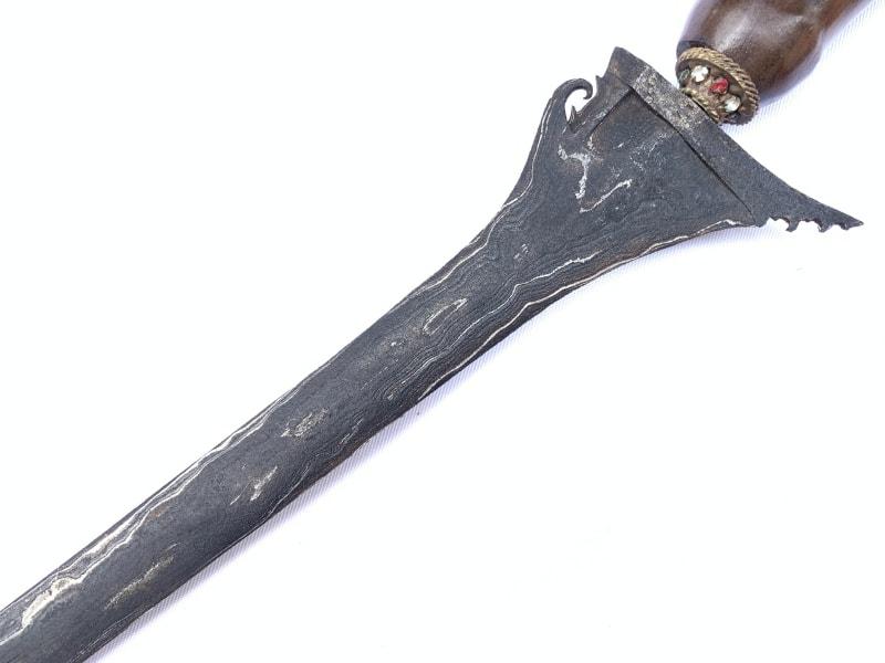 KRIS LURUS Knife, KERIS BULAN SABIT 730mm KRIS LURUS Knife Dagger Sword Arms Weapon Borneo Sumatra