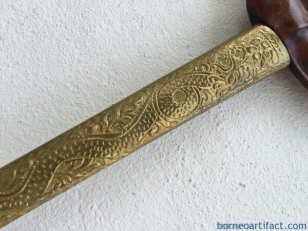 (KERIS PANCURAN EMAS) AGED STRAIGHT BLADE Knife Weapon Sword Dagger Kriss Kris