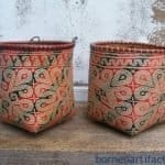 Male & Female 230mm Dayak WEDDING BASKET Woven Bakul Container Borneo Weaving #2