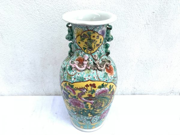 NYONYA Vase, SELLING CHEAP NYONYA Vase Jar Phoenix and Peonies Flower Pot Pottery Feng Shui