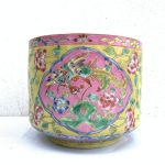 RARE BEAUTY 190mm VASE Nyonya Flower Pot Jar Ceramic Fine Art Feng Shui Planters