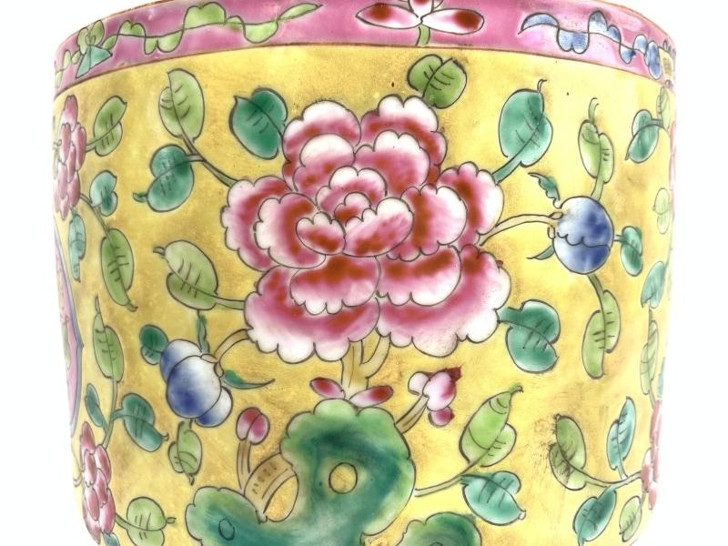 RARE BEAUTY 190mm VASE Nyonya Flower Pot Jar Ceramic Fine Art Feng Shui Planters & RARE BEAUTY VASE Nyonya Flower Pot Jar Ceramic Fine Art Feng Shui
