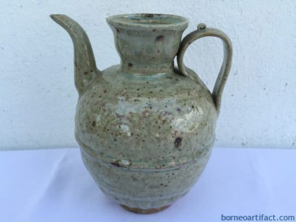 Antique Glazed 180mm Ching Pai Teapot Kettle Pot Teakettle Old Kitchen Dynasty