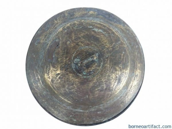 COOKING POT Of Borneo 230mm Antique Brass Cooker Basin Couldron Metal Camping
