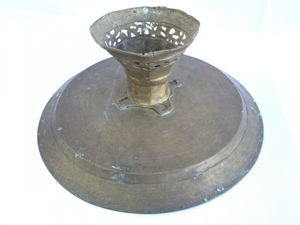 ANTIQUE BRASS TRAY 320mm Wedding Heirloom Food Dish Plate Expensive Display