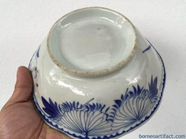 antique bowl, OLD 195mm BLUE WHITE Rice Noodle antique bowl Plate Tray Chinese Porcelain