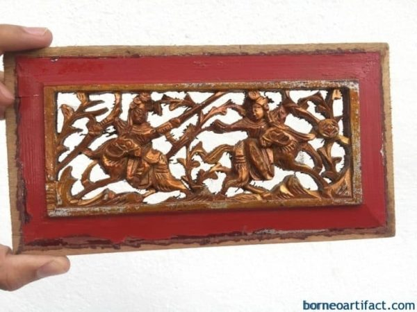 #2 ANTIQUE PROSPEROUS PANEL Chinese Wedded Gift Old Chinese Dynasty Famille Rose