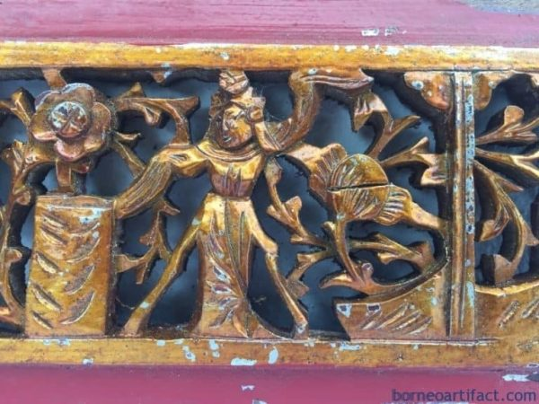 #4 ANTIQUE PROSPEROUS PANEL, #4 ANTIQUE PROSPEROUS PANEL Wedding Gift Old Chinese Dynasty Statue China Figure