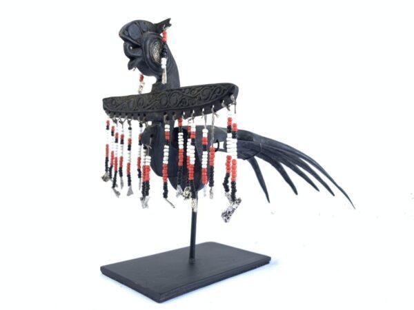 BIRD STATUE, DAYAK CROWN 270mm BIRD STATUE Dayak Women Headdress Old Jewelry Sculpture