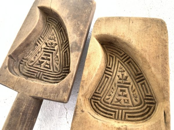 CHINESE Cake MOLD ANTIQUE Biscuit Maker South Asia Food Cast Frame Stamp Chop #5