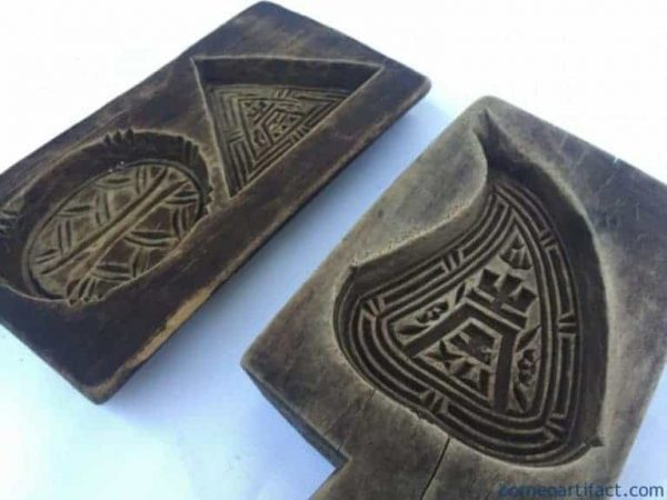Antique Biscuit Maker, Chinese Cake Mold Antique Biscuit Maker South Asia Food Cast Frame Stamp Chop Baking Tray #7