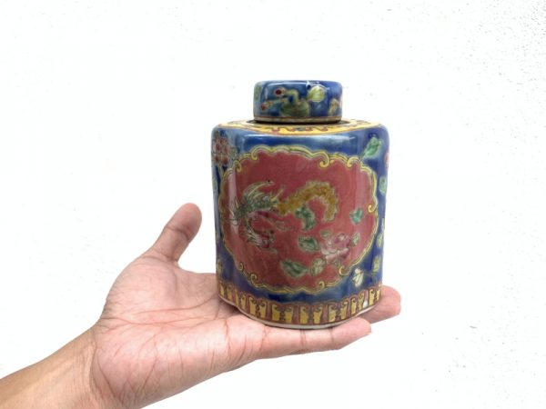 Old Nyonya Tea Bottle, #2 BLUE TEA BOTTLE Nyonya Baba Restaurant Cafe Kitchen Home Collection Asean