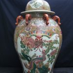 MASSIVE HUMAN SIZE 820mm Covered Pot Ginger Jar Dragon and Phoenix Vase Pottery peranakan home decor