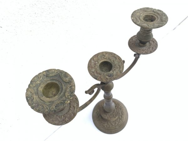 ANTIQUE Romantic CANDLE HOLDERS, ANTIQUE Romantic CANDLE HOLDERS Candelabra Stand Dining Castle Mansion Old Style