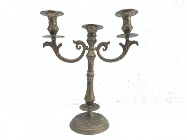 ANTIQUE Romantic CANDLE HOLDERS Candelabra Stand Dining Castle Mansion Old Style