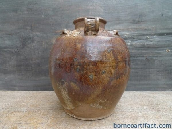 ANTIQUE WINE TEAPOT KETTLE JAR Ching / Qing Dynasty (1644-1912) Pot Pottery Vase