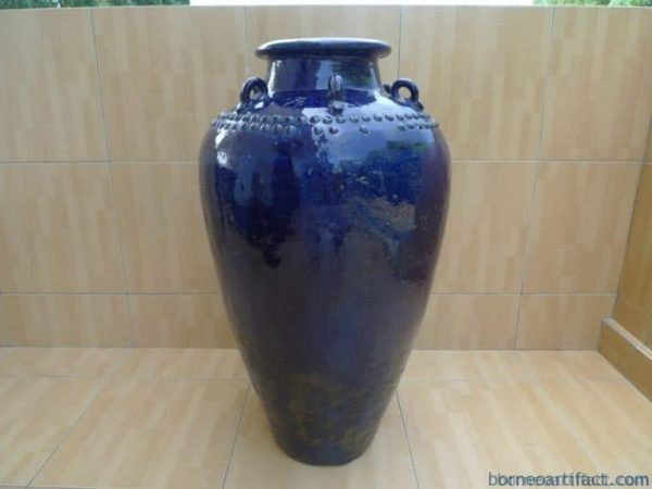 Tajau, BLUE COLOR 850mm JAR Ching/Qing (1644-1912) Tajau Vase Pot Pottery Porcelain