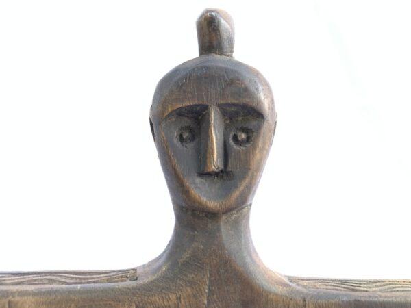 TRIBAL VINTAGE CUTTING BOARD 395mm Papan Hiris Indonesia Panel Carving Art Statue Figure