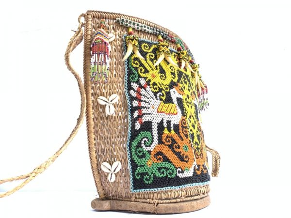 TRADITIONAL CHILD CARRIER, TRADITIONAL CHILD CARRIER 360x390mm Baby Bag Tribe Tribal Borneo Backpack Sling