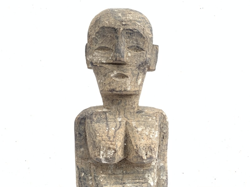 ANCESTRAL DAYAK KAYAN IRONWOOD STATUE Figure Icon Image Sculpture Papua Borneo
