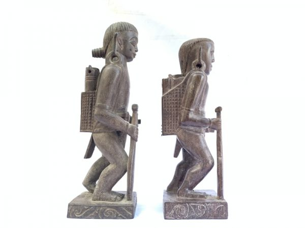 ANCESTRAL WARRIOR Authentic Antique Statue, DAYAK ANCESTRAL WARRIOR Authentic Antique Statue Sculpture Image Figure Home