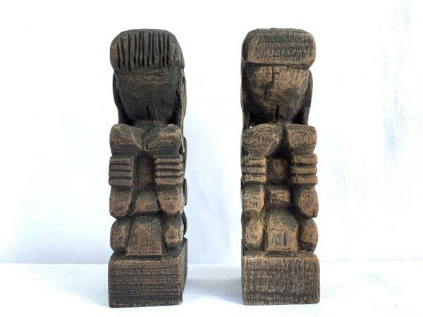 HANDMADESTATUEmmDAYAKBahauHumanArtPeopleFigureFigurineSculpturePaperweightTribalTribe