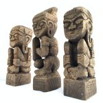 DAYAK 205mm Bahau Human Statue People Figure Paperweight Tribal Figure Asia Abstract Sculpture