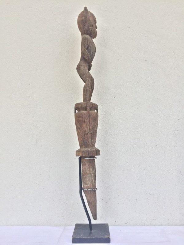 afterworld guardian 760mm headhunter tribe statue figure sculpture tribal asia