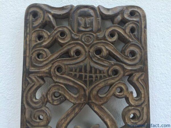 TRIBALPANELmmDAYAKKAHARINGANFigureStatueNativeSculptureCarvingAsia