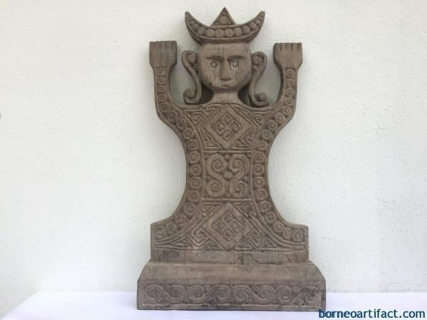 CHIEFTAIN FIGURE 610mm INDONESIA STATUE Tribal Sculpture Artefact Artifact Nias