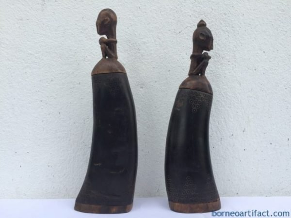 ONE PAIR OLD BATAK MEDICINE CHAMBER BOX CONTAINER Artifact Statue Image Icon