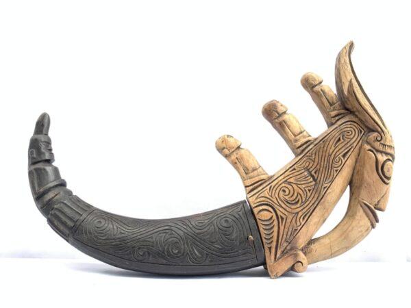 NAGA MORSARANG 440mm CONTAINER Horn Statue Medicine Box Jewelry Chamber Batak #1