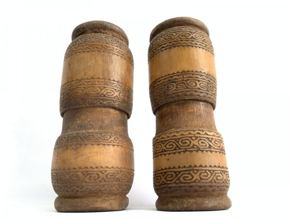BATAKCONTAINERmm(Pair)BAMBOOBetelPowderNutTribalBoxFigureTraditionalNativeAsia