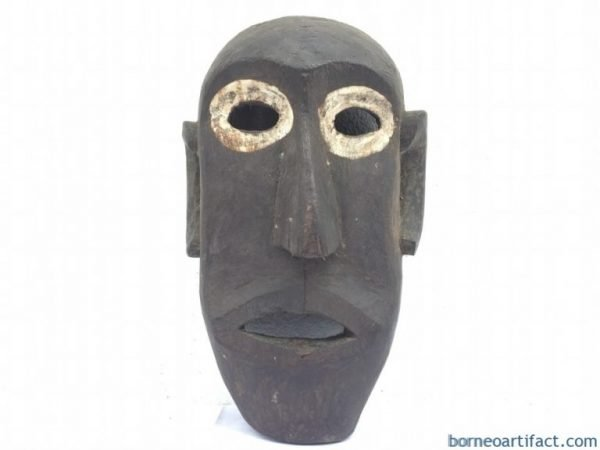 ANTIQUE IBAN (Sea Dayak Headhunter) 330mm xxxL MASK Tribal Masque Face Facial Statue Sculpture Figure Figurine Spiritual Object Handmade