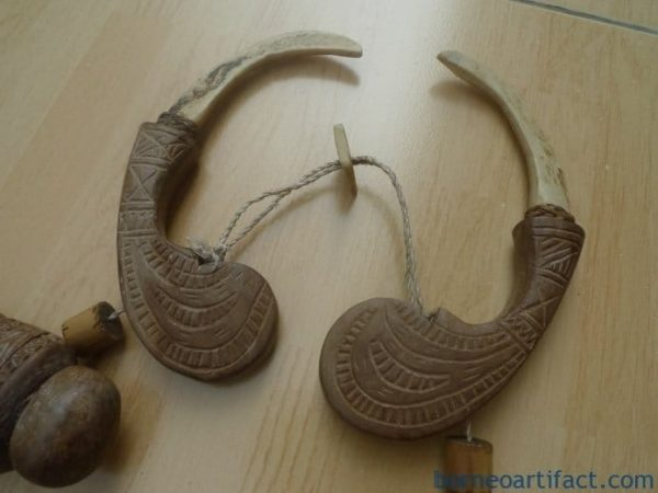 RARE TORA TORA NECKLACE TORAJA Tribal Jewelry Wood & Bone Pendant Body Ornament
