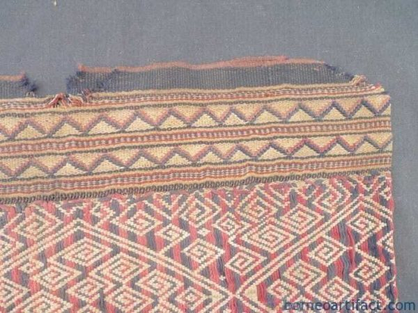 Antique Sungkit Dress, MEGA Rare BUAH REMAUNG Mythical Tiger Pattern Antique Sungkit Dress Cotton Tribal Skirt Costume #280
