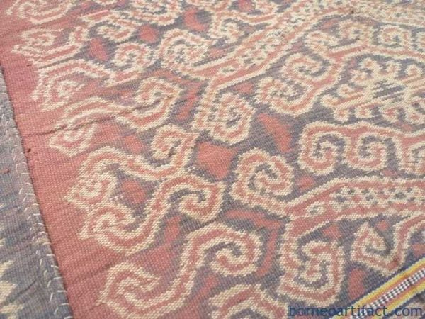 Bidang SARONG pua, GIGANTIC SNAKE BUAH NABAU Serpent Pattern Bidang SARONG LADIES GARMENT CLOTH#281