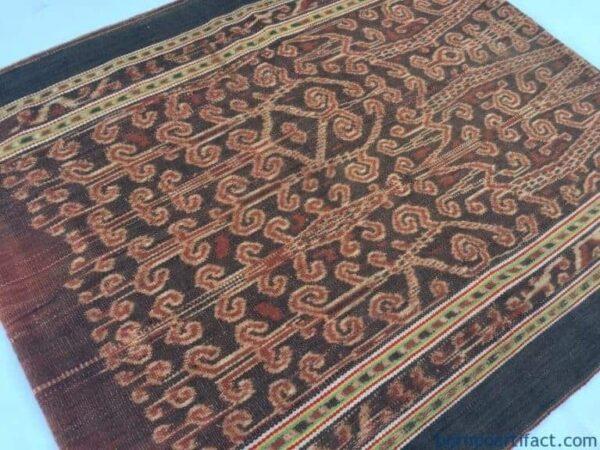 LEECH Pattern Bidang, RARE FIREFLY and LEECH Pattern Bidang Dayak Sarong Lady Garment Skirt Dress #321