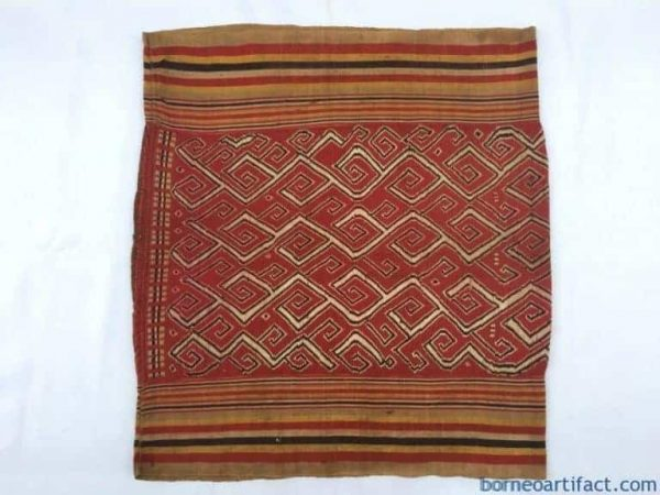 ANTIQUE SUNGKIT SKIRT Dayak Sarong, ANTIQUE SUNGKIT SKIRT Dayak Sarong OLD DRESS TEXTILE TRIBAL CLOTH FABRIC #324