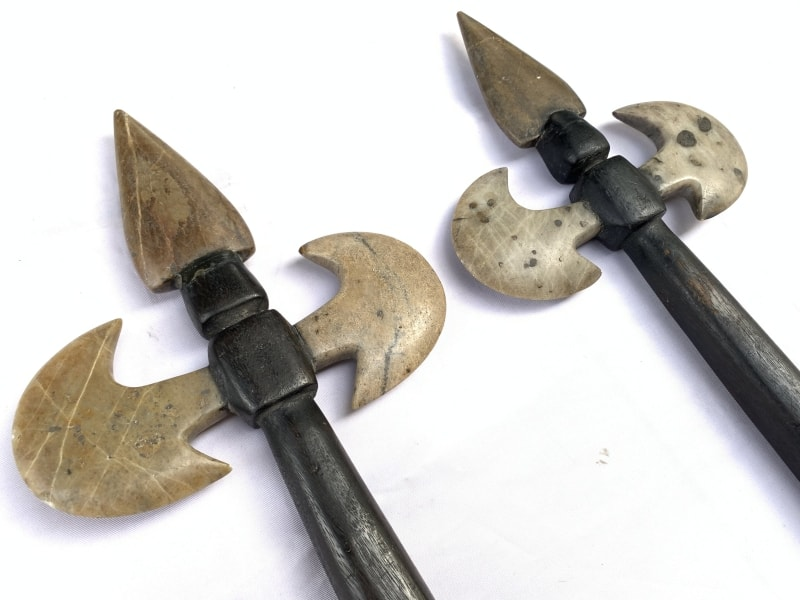 Old Primitive Axe Weapon, KAPAK JAWA OLD PRIMITIVE AXE AX AXES WEAPON Hindu Indonesia Stone Blade Knife