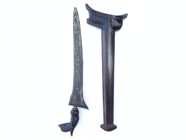 KERIS PALEMBANG 500mm STRAIGHT BLADE Weapon Knife Dagger Sword Kris Kriss Arms