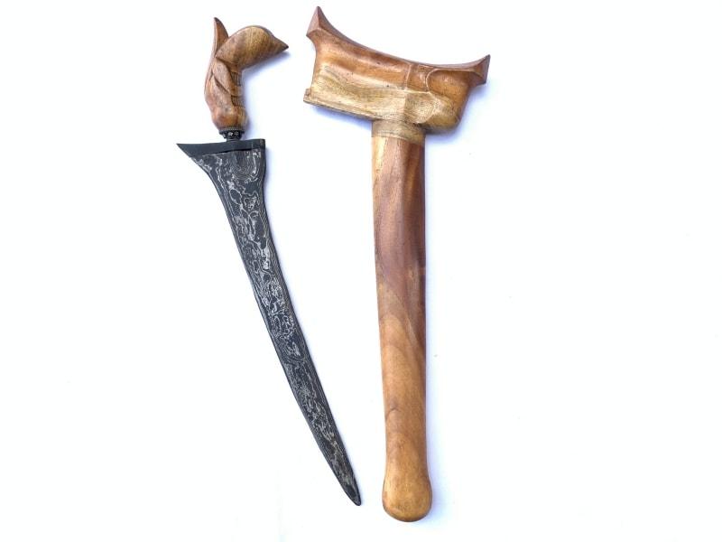 (STRAIGHT BLADE KERIS) KRIS PALEMBANG Weapon Knife Dagger Sword Kriss Asia Asian
