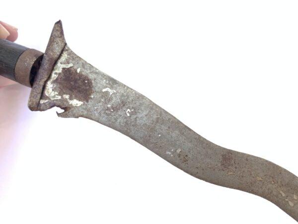 KERIS KALATUA 370mm SCORPION TAIL HILT weapon kris Knife Blade Dagger Sword OLD