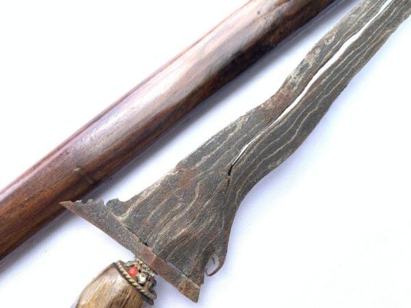 4.) Kris Knife Keris Pamor Adeq 3 Luk (BLACK MAGIC PROTECTION) Knife Kris Sword Dagger Art