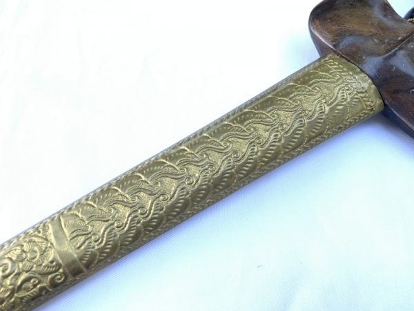 AGED KERIS MINANG: Straight Blade, (AGED KERIS MINANG: Straight Blade) Knife Weapon Sword Dagger Kris Kriss Asian