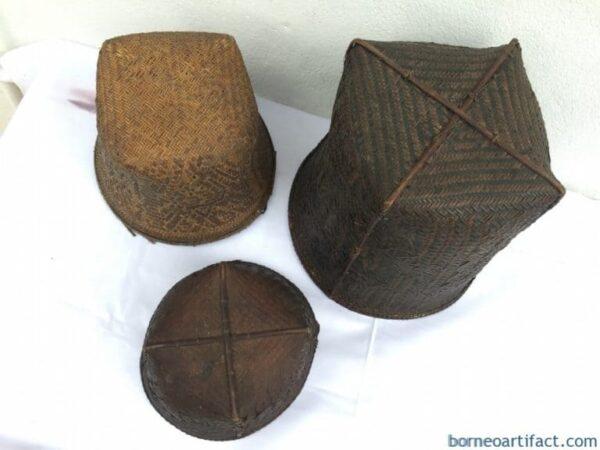 IBAN BASKET, IBAN BASKET (3 pieces) ANTIQUE Hand Woven Craft Dayak Borneo Handmade Weaving Bowl Basin Home Bar Deco