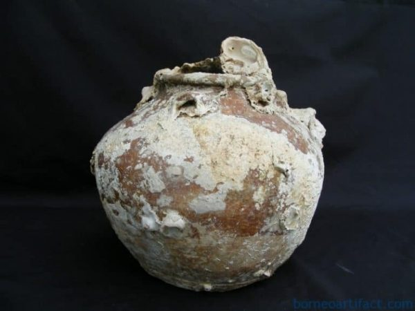 ANTIQUE AUTHENTIC Sung Dynasty JAR POT VASE Clam & CORAL Underwater Artifact