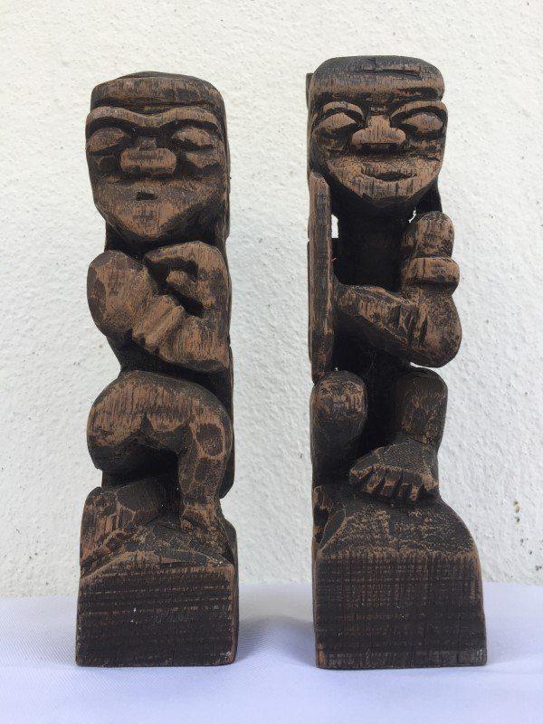 People Figure Sculpture Icon Paperweight, BORNEO TRIBE DAYAK Bahau Human Statue People Figure Sculpture Icon Paperweight